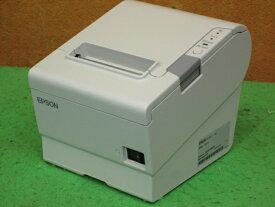 【中古】EPSON TM-T88V サーマルレシートプリンタ USB接続 簡易チェック セルフテスト印字確認済み▼ACアダプタ無し[b8646]