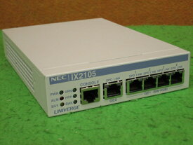 ☆彡秋の夜長セール☆ミ 【中古】NEC UNIVERGE IX2105 VPN対応高速アクセスルーター 簡易チェック済み [B9000]