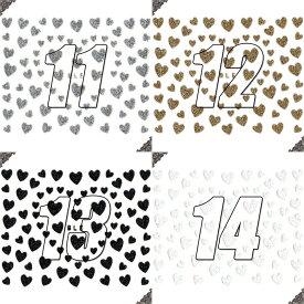 ネイルシール ラメ ハート 選べる6種類♪