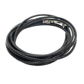 【送料無料】【送料込み】BVLGARI ブルガリ レザー チョーカー 2連 ブレスレット 2WAY ブラック 黒 アクセサリー【中古】 aq4922