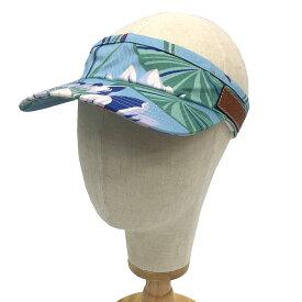 ロエベ LOEWE パウラズ イビザコレクション LOEWE Paula's サンバイザー 水色 ライトブルー 熱帯魚 ♯59 フリーサイズ 帽子【未使用】【新品】【中古】ロエベ aq4882