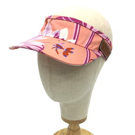 ロエベ LOEWE パウラズ イビザコレクション LOEWE Paula's サンバイザー ピンク系 熱帯魚 ♯59 フリーサイズ 帽子【未使用】【新品】【中古】ロエベ aq4883