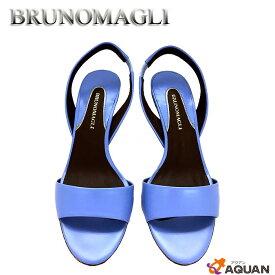 BRUNOMAGLI ブルーノマリバックストラップサンダル36 1/2 レザー ブルー【未使用】【新古品】【中古】BRUNOMAGLI 靴 レディース
