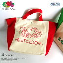 送料無料 フルーツオブザルーム ロゴ キャンバス FRUIT OF THE LOOM トートバッグ かわいい ベージュ メンズ・レディース ブランド かばん ミニトート ミニバッグ 鞄 バッグ