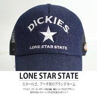 帽子メンズレディースDickiesディッキーズワンスターLONESTARメッシュキャップトラッカーキャップベースボールキャップ日よけ紫外線対策UV対策ハットキャップ帽子