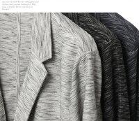 テーラードジャケットメンズジャケット2B2つ釦メンズ七分袖スラブ杢調スリムサマージャケット春夏コーデ