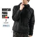 マウンテンパーカー メンズ ジャケット アウター タウンユース ライトアウター マンパー アメカジ/ウィンドブレーカー メンズ ブラック 黒 迷彩 カモフラ シェルジャケット/メンズ/アウトドア ARCADE(アーケード)