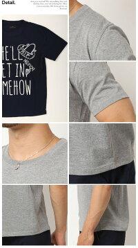 TシャツメンズおしゃれサーフTシャツ半袖Tシャツかっこいいメンズ半袖Tシャツ夏メンズファッションティーシャツトップスプリントTシャツアメカジロゴ