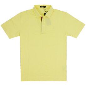 ブラックレーベルクレストブリッジ BLACK LABEL CB ポロシャツ 半袖 黄 イエロー 前立て チェック 生地 胸 CBマーク 刺繍 2サイズ 胸囲87-93S60408