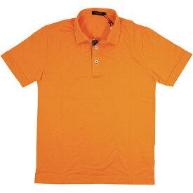 ブラックレーベルクレストブリッジ BLACK LABEL CB ポロシャツ 半袖 オレンジ 前立て チェック 生地 胸 CBマーク 刺繍 2サイズ 胸囲 87-93S59814