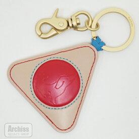 ポールスミス Paul Smith キーリング レディース ベージュ 赤 スミシースケッチ 犬 イラスト 型押し レザーチャーム PWU560-24S56063