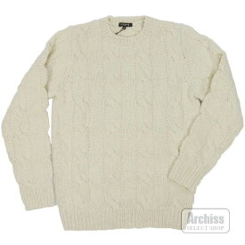 マッキントッシュロンドン MACKINTOSH LONDON ニット セーター オフホワイト アイボリー カシミヤ 100% フィッシャーマン柄 アラン Mサイズ G1N11-652-02S63603