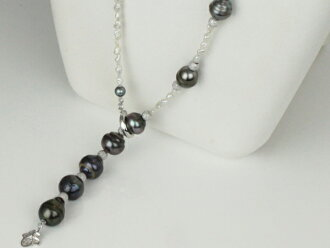 Pearl Pearl Necklace Tahitian black Butterfly Pearl akoyakesi Pearl 60 cm longfashionnecklasstationdesignblackperlbraccolor Ise Shima black true Pearl South Sea pearls large Pearl Pearl Moonstone