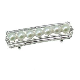 真珠 パール 帯留め あこや真珠 パール 帯留め アコヤ本真珠 6.5mm-7mm ホワイトカラー デザイン