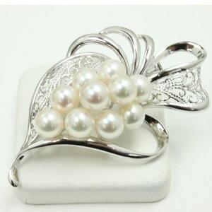真珠 パール ブローチ あこや真珠 ブローチ アコヤ真珠 デザイン ホワイトピンクカラー 10pcs 卒業式 入学式
