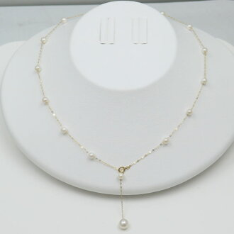 Pearl pearl necklaces, Akoya pearl Pearl Necklace 4.5 mm-5 mm design baby part station K18 Akoya pearls this casual