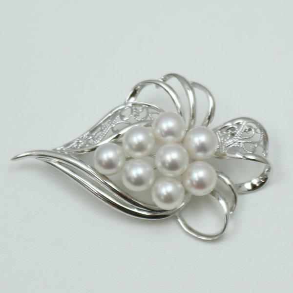 真珠 パール ブローチあこや真珠 パールブローチ 7mm-7.5mm 8pcs ホワイトピンクカラー デザイン 冠婚葬祭 卒業式 入学式 フォーマル