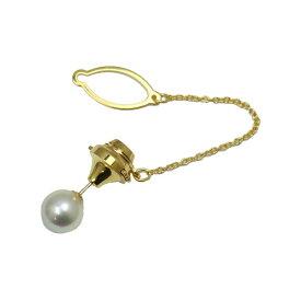 真珠 パール タイピン あこや真珠 パール タイタック アコヤ本真珠 9mm-9.5mm ホワイトカラー 人気 冠婚葬祭 葬儀 メンズ