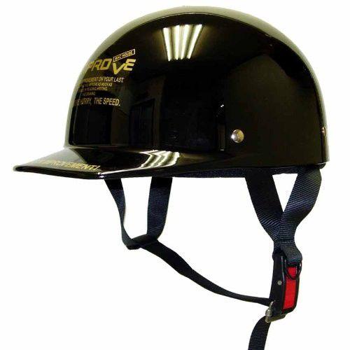 ヘルメット バイク 原付 半キャップ ブラック サイズフリー SGマーク取得 川村商店 送料無料