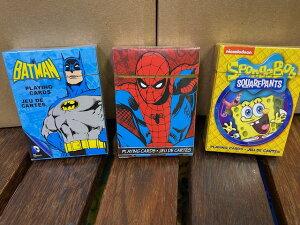 アメコミ系トランプ 3種類からチョイス スパイダーマン、バットマン、スポンジボブ