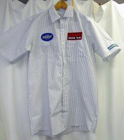 RED KAP WORK SHIRT★レッドキャップ★ワッペン付きワークシャツ★ホワイト×ネイビー★GOOD YEAR公式ワッペン