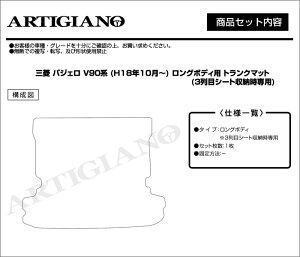 三菱パジェロV90系トランクマット(ラゲッジマット)ロングボディ専用フロアマットフロアーマットカーマットフロアカーペットMITSUBISHI