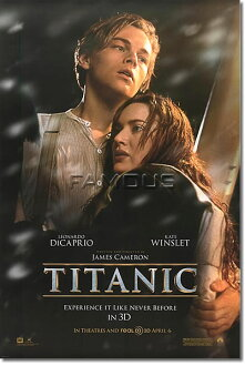 Titanic 3D movie poster /DS