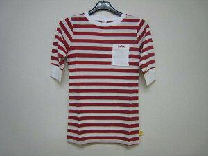 送料無料新品女性用TシャツTHREEOCEANTHERLMT-SHIRTSWHITE/REDBORDER【05P21Aug14】