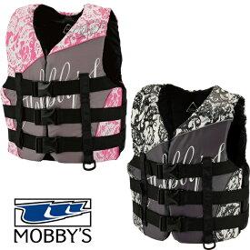 マリンスポーツ ライフジャケット 救命胴衣 PWC船検対応 ベスト 女性用 モビーズ 正規品 MOBBY'S Mermaid 3B VEST WMS