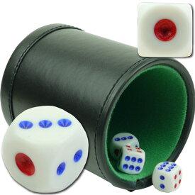 送料無料 本格カジノ ダイスカップ ダイス5個付 プライムポーカー 遊べるダイスゲーム 楽しいダイスゲーム カジノ サイコロ ゲーム Ag034