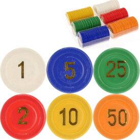 送料無料 ゲームチップ2号 6色計150枚 直径25mm カジノチップ ルーレット バカラ ポーカー トランプゲーム 色々なゲームに使えるチップ Ag054