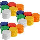 送料無料 カジノチップ ゲームチップ 6色計180枚 専用ケース付 ルーレットゲームやポーカーなど色々使えるゲームチッ…