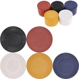 送料無料 ゲームチップ4号 5色計100枚 直径38mm カジノチップ ルーレット バカラ ポーカー トランプゲーム 色々なゲームに使えるチップ Ag055