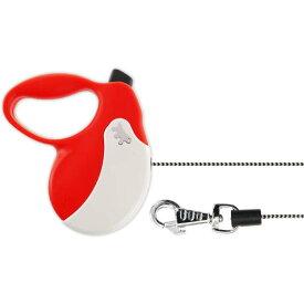 送料無料 犬 伸縮 リード AMIGO MINI 赤白 コード長3m体重12kgまで ペット用品 ferplast ファープラスト アミーゴ 伸縮式リード Fa010