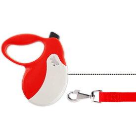 送料無料 犬 伸縮 リード AMIGO L 赤白 コード 長5m 体重50kgまで ペット用品 ferplast ファープラスト アミーゴ 伸縮式リード Fa5218