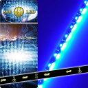 送料無料 72連LEDテープ120cm 側面発光LEDテープブルー1本 両端配線 防水LEDテープ 切断可能なLEDテープ as440