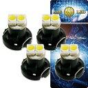 送料無料 2連 LED T4.2 バルブ メーターパネル球 ホワイト4個 LEDルーム メーターランプ球 パネル球 as11126-4