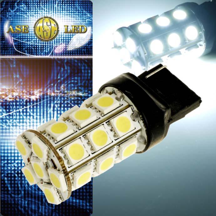 送料無料 プリウス バック球 T20シングル球 27連 LED ホワイト1個 PRIUS/G'S H21.5〜H27.12 ZVW30 前期/後期 バックランプ球 as53