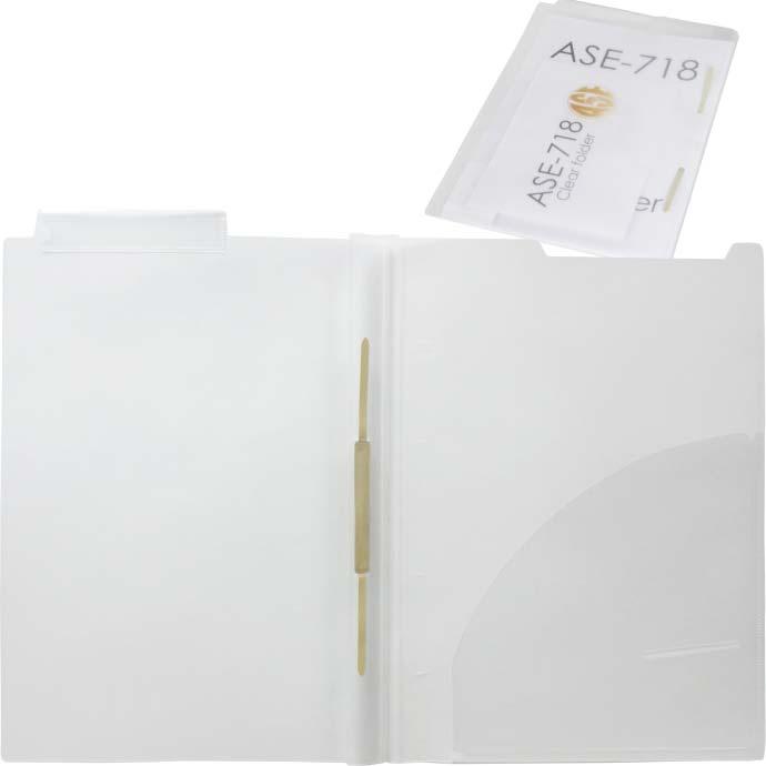 送料無料 A4 カルテフォルダー 40枚 ファスナー付 ヨコ置き 見開きタイプ マチ付 シングルポケット付クリアファイル Sa01-40