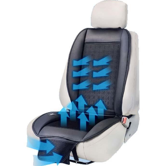 予約注文 送料無料 クールカーシート 風量調節可能 シートがひんやり K-SHE09 メッシュ素材の涼感シートから涼風が出る max198