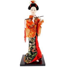 送料無料 日本人形 31cm(12インチ) 8 笛 本格派人形 着物が綺麗な日本人形 ms9007