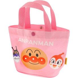 送料無料 アンパンマン 桃 手さげかばん 手提げバッグ キャラクターグッズ アンパンマン ばいきんまん ドキンちゃん ms081
