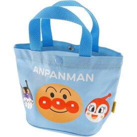 送料無料 アンパンマン 青 手さげかばん 手提げバッグ キャラクターグッズ アンパンマン ばいきんまん ドキンちゃん ms082