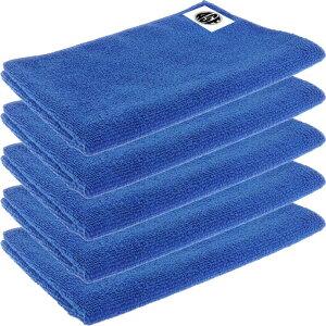 送料無料 マイクロファイバークロス お掃除タオル5枚 34×50cm 青 埃汚れ除去 吸水性抜群 お掃除タオル 食器拭き 拭き掃除最適 ro010