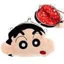 送料無料 クレヨンしんちゃん がま口財布 ポーチ ショルダーひも付 キャラクターグッズ しんちゃんの顔のポーチ 小物…