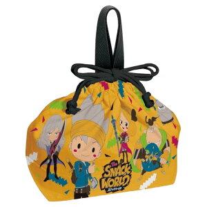 送料無料 スナックワールド ランチボックス 弁当箱入れ 巾着袋 KB7 キャラクターグッズ 巾着 SNACK WORLD Sk367
