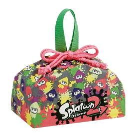 送料無料 スプラトゥーン2 ランチボックス 弁当箱入れ 巾着袋 KB7 キャラクターグッズ 巾着 Splatoon2 Sk511