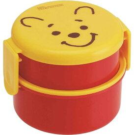 くまのプーさん 丸型ランチボックス お弁当箱 500ml ONWR1 キャラクターグッズ お子様用お弁当箱 ミニフォーク付 Sk065