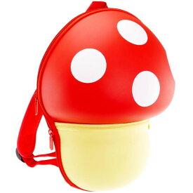 送料無料 Mashroom バックパック 赤 きのこ型リュックサック マッシュルーム ハードケースきのこリュック かばん Ha324