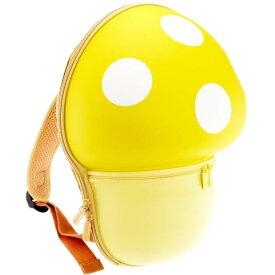 送料無料 Mashroom バックパック 黄 きのこ型リュックサック マッシュルーム ハードケースきのこリュック かばん Ha323